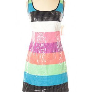 Lilly Pulitzer LUCY Stripe Sequin Mini Dress 0